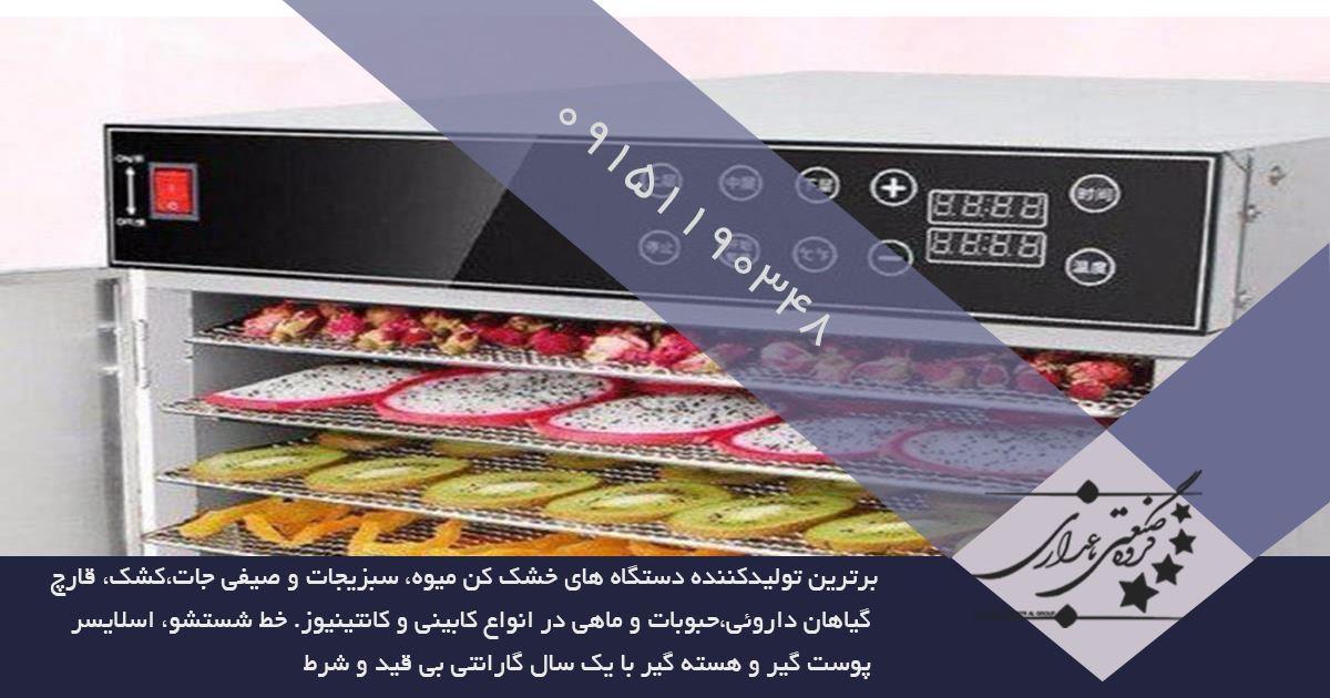 نماینده فروش دستگاه خشک کن میوه صنعتی