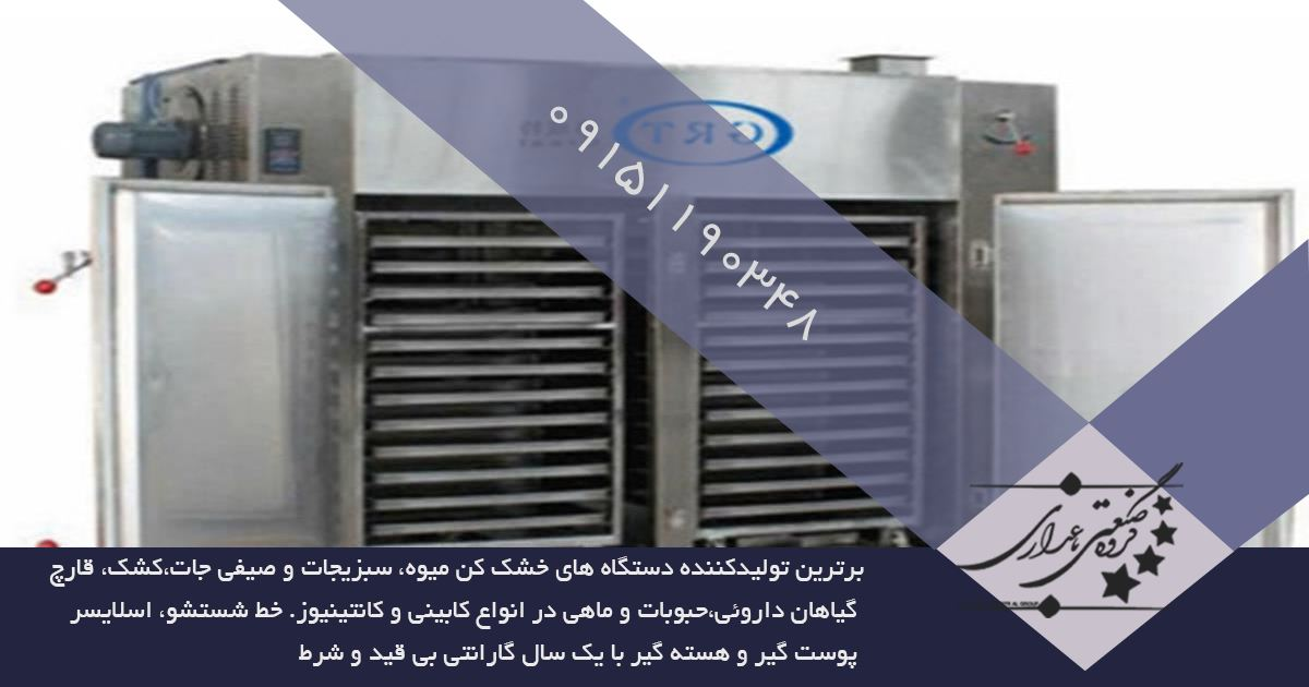 مزیت استفاده از دستگاه میوه خشک کن اصفهان از نوع نواری